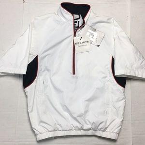 FJ Footjoy Dryjoys Jacket Wind Rain Golf 1/4 Zip